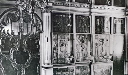 06-Галич-Паисиев-монастырь-Фрагмент-иконостаса-с-царскими-вратами-в-Успенском-соборе